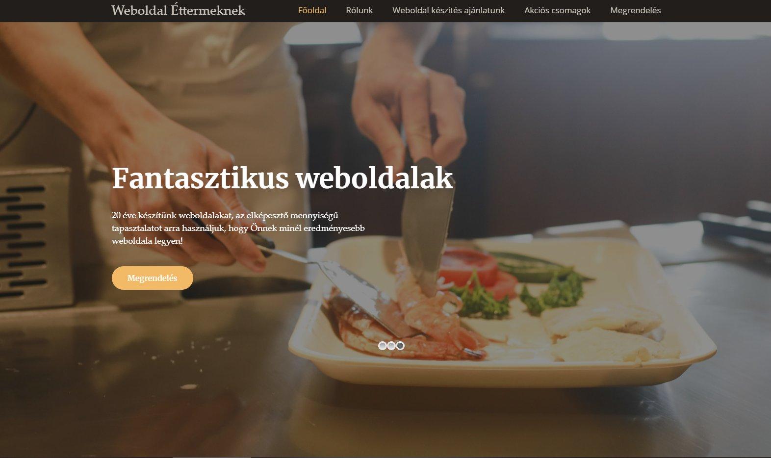 Étterem weboldal