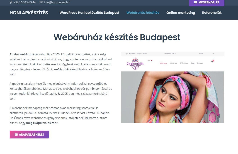 Webshop készítése éttermeknek